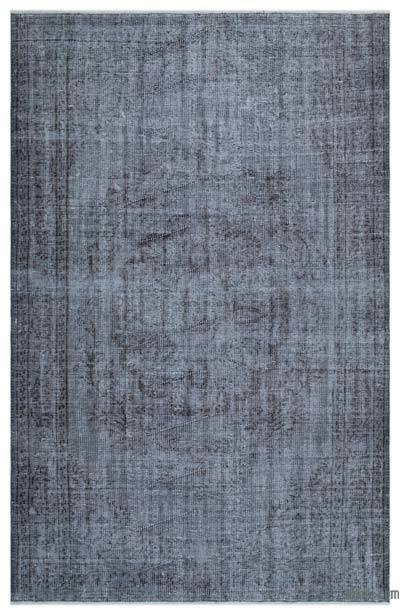 Blue Over-dyed Turkish Vintage Rug - 5'7'' x 8'10'' (67 in. x 106 in.)