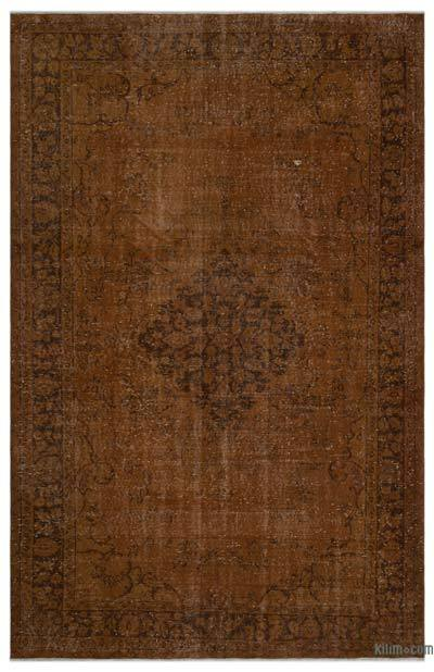 Brown Over-dyed Turkish Vintage Rug - 6' x 9'3'' (72 in. x 111 in.)