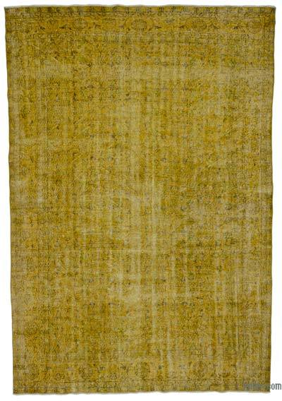"Over-dyed Turkish Vintage Rug - 7'2"" x 10'7"" (86 in. x 127 in.)"