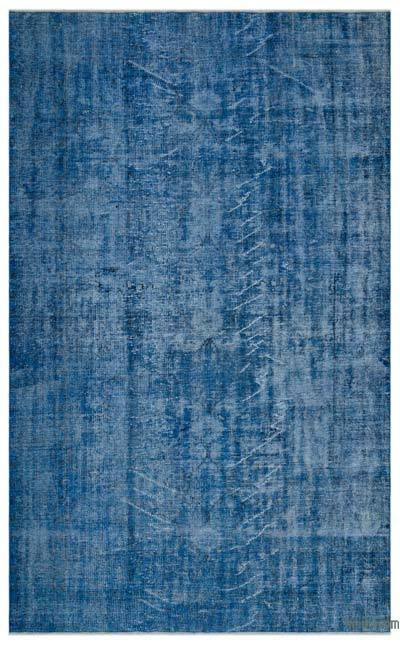 Blue Over-dyed Turkish Vintage Rug - 6'1'' x 9'11'' (73 in. x 119 in.)