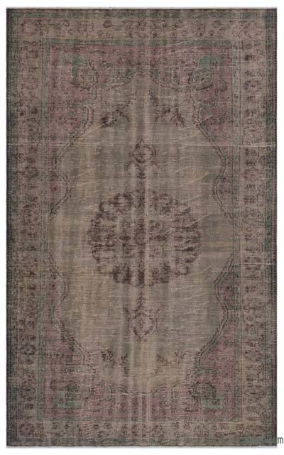 "Over-dyed Turkish Vintage Rug - 5'11"" x 9'1"" (71 in. x 109 in.)"