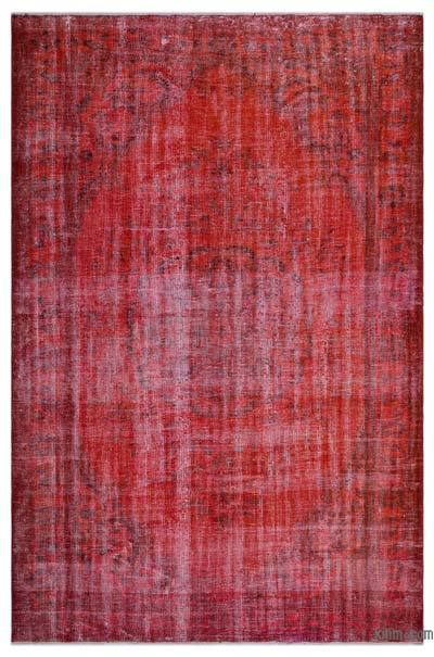 Orange Over-dyed Turkish Vintage Rug - 6'1'' x 9'5'' (73 in. x 113 in.)