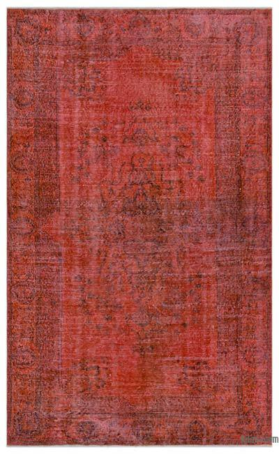 "Over-dyed Turkish Vintage Rug - 5'6"" x 8'10"" (66 in. x 106 in.)"