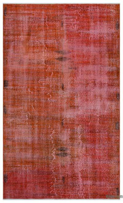 Orange Over-dyed Turkish Vintage Rug - 5' x 8'3'' (60 in. x 99 in.)