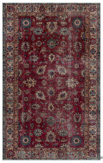 "Turkish Vintage Area Rug - 4'11"" x 7'10"" (59 in. x 94 in.)"