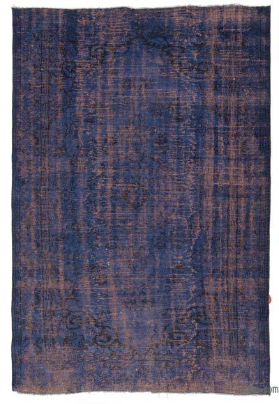"Over-dyed Turkish Vintage Rug - 6'3"" x 8'10"" (75 in. x 106 in.)"