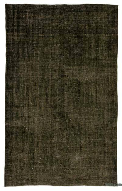 Green Over-dyed Turkish Vintage Rug - 5'2'' x 8'8'' (62 in. x 104 in.)