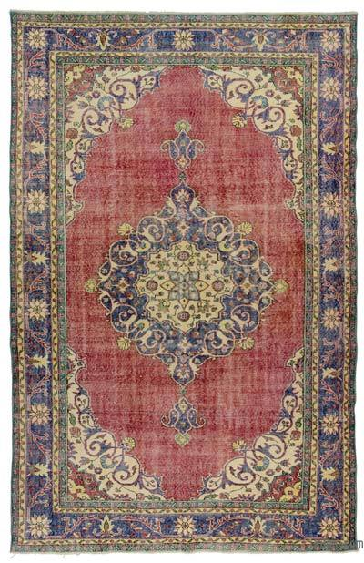 "Turkish Vintage Area Rug - 6'11"" x 10'8"" (83 in. x 128 in.)"
