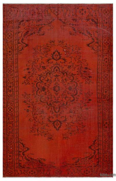 "Over-dyed Turkish Vintage Rug - 5'7"" x 8'4"" (67 in. x 100 in.)"