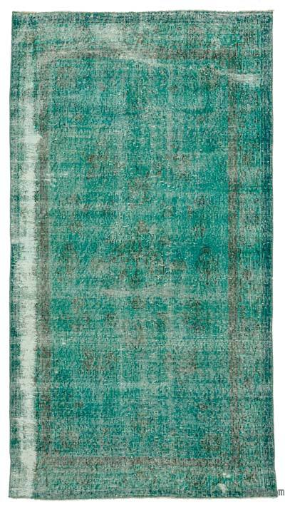 "Over-dyed Turkish Vintage Rug - 3'10"" x 7'3"" (46 in. x 87 in.)"
