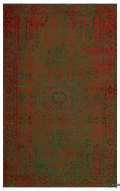 Over-dyed Turkish Vintage Rug - 5'5'' x 8'8'' (65 in. x 104 in.)