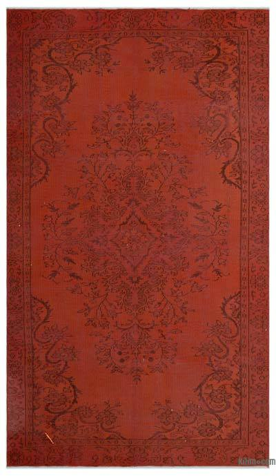 "Over-dyed Turkish Vintage Rug - 5'3"" x 9'2"" (63 in. x 110 in.)"