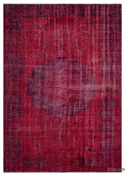 Over-dyed Turkish Vintage Rug - 6'2'' x 8'8'' (74 in. x 104 in.)