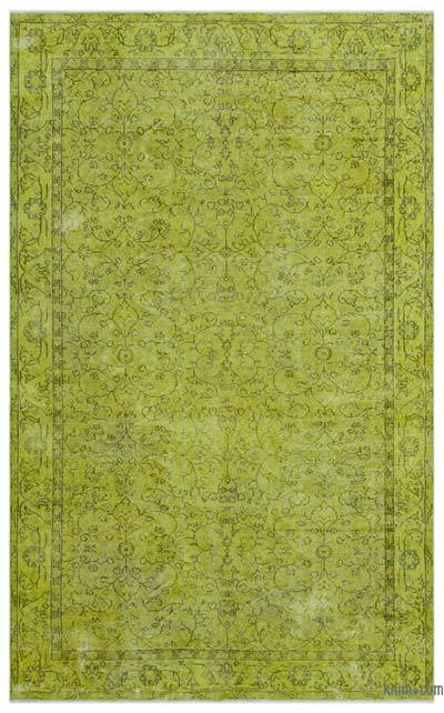 "Over-dyed Turkish Vintage Rug - 5'6"" x 8'9"" (66 in. x 105 in.)"