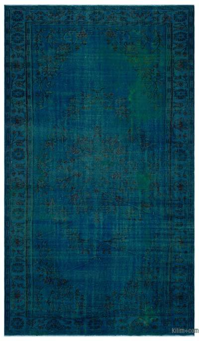 "Over-dyed Turkish Vintage Rug - 6'1"" x 10'3"" (73 in. x 123 in.)"