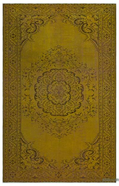 "Over-dyed Turkish Vintage Rug - 5'9"" x 9'3"" (69 in. x 111 in.)"