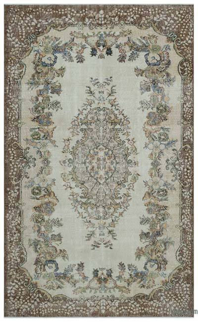 Turkish Vintage Area Rug - 6'2'' x 10'1'' (74 in. x 121 in.)