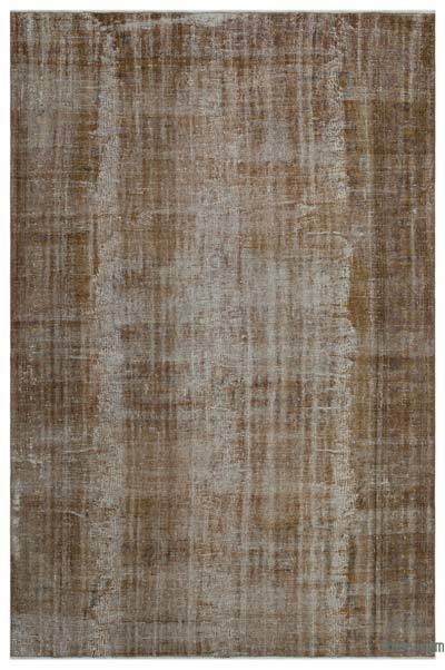 "Over-dyed Turkish Vintage Rug - 6'10"" x 10'4"" (82 in. x 124 in.)"
