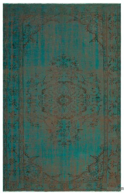 "Over-dyed Turkish Vintage Rug - 5'9"" x 8'11"" (69 in. x 107 in.)"