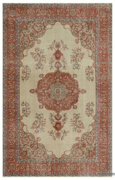 "Turkish Vintage Area Rug - 6'3"" x 10' (75 in. x 120 in.)"