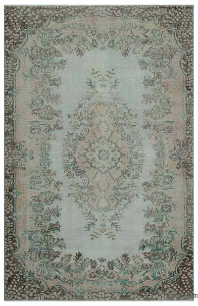 Turkish Vintage Area Rug - 5'5'' x 8'5'' (65 in. x 101 in.)