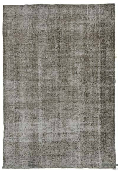 Grey Over-dyed Turkish Vintage Rug - 6'11'' x 10'4'' (83 in. x 124 in.)