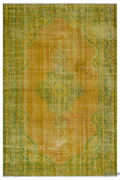 "Over-dyed Turkish Vintage Rug - 6'7"" x 9'11"" (79 in. x 119 in.)"
