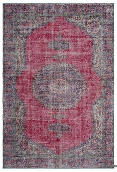 "Turkish Vintage Area Rug - 6'9"" x 9'9"" (81 in. x 117 in.)"