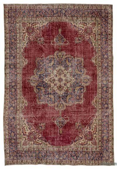"Turkish Vintage Area Rug - 7'1"" x 10'6"" (85 in. x 126 in.)"