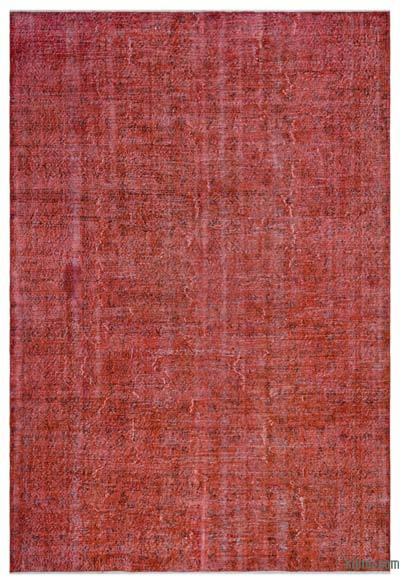 "Over-dyed Turkish Vintage Rug - 6'9"" x 10'1"" (81 in. x 121 in.)"