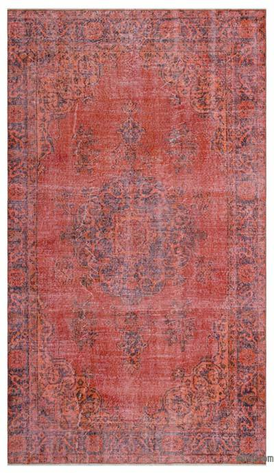 "Over-dyed Turkish Vintage Rug - 5'2"" x 8'11"" (62 in. x 107 in.)"