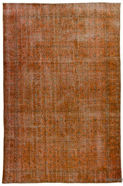Orange Over-dyed Turkish Vintage Rug - 6'8'' x 10'5'' (80 in. x 125 in.)