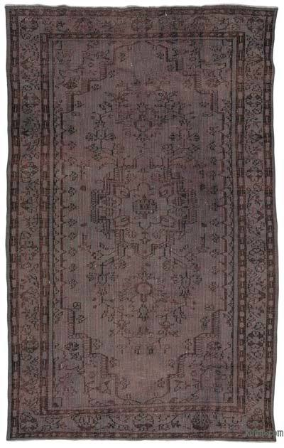 Grey Over-dyed Turkish Vintage Rug - 5'8'' x 8'10'' (68 in. x 106 in.)