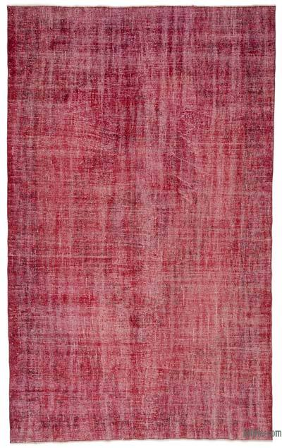 Fuchsia Over-dyed Turkish Vintage Rug - 5'8'' x 9'2'' (68 in. x 110 in.)