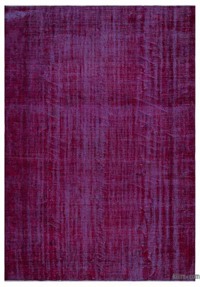 Fuchsia Over-dyed Turkish Vintage Rug - 6'2'' x 8'11'' (74 in. x 107 in.)