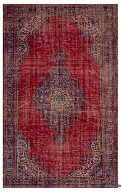 Turkish Vintage Area Rug - 6'4'' x 9'8'' (76 in. x 116 in.)