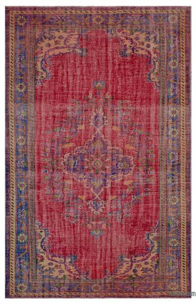 Turkish Vintage Area Rug - 6'6'' x 9'9'' (78 in. x 117 in.)
