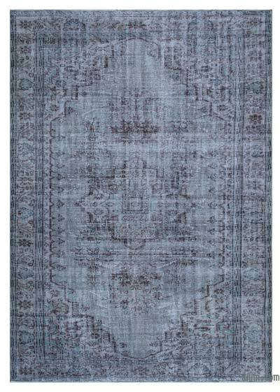 Grey Over-dyed Turkish Vintage Rug - 5'10'' x 8'4'' (70 in. x 100 in.)