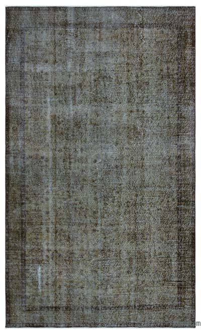Brown Over-dyed Turkish Vintage Rug - 5'1'' x 8'9'' (61 in. x 105 in.)
