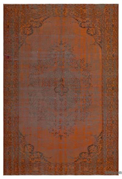 Orange Over-dyed Turkish Vintage Rug - 5'9'' x 8'8'' (69 in. x 104 in.)