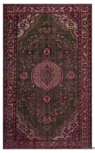 Turkish Vintage Area Rug - 5'5'' x 8'10'' (65 in. x 106 in.)