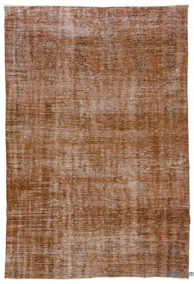 Brown Over-dyed Turkish Vintage Rug - 5'6'' x 8'2'' (66 in. x 98 in.)