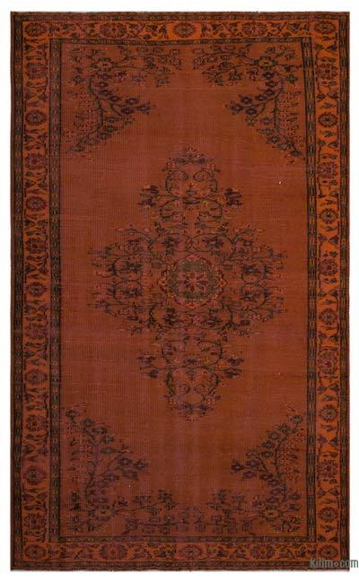 Over-dyed Turkish Vintage Rug - 5'10'' x 9'8'' (70 in. x 116 in.)