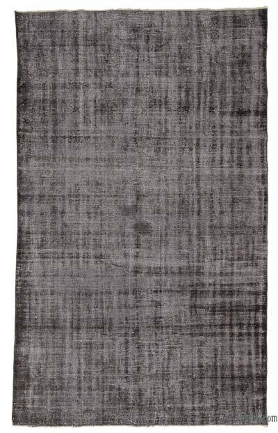 Grey Over-dyed Turkish Vintage Rug - 5'10'' x 9'6'' (70 in. x 114 in.)