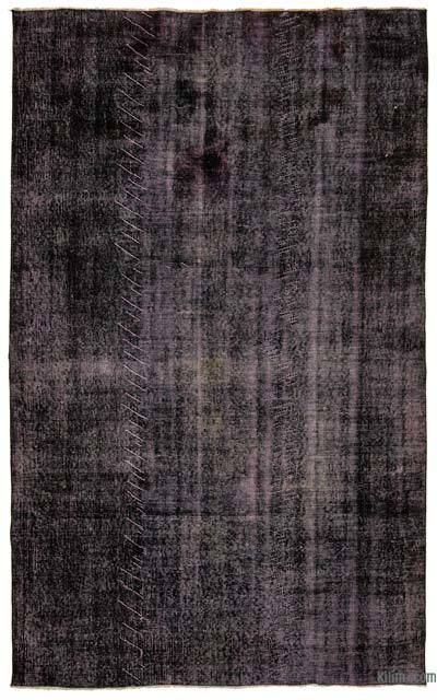 Purple Over-dyed Turkish Vintage Rug - 5'7'' x 9' (67 in. x 108 in.)