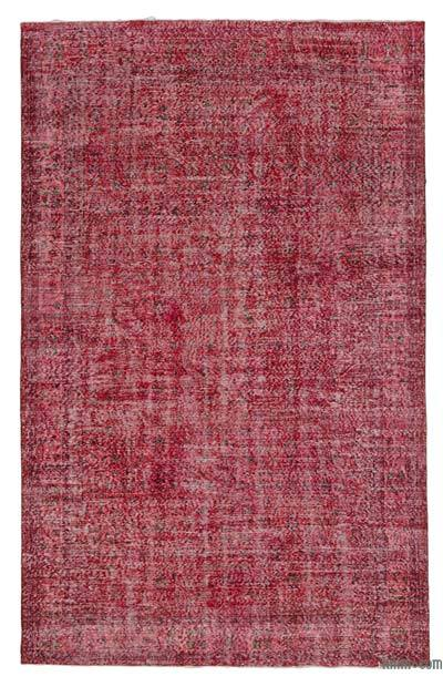 "Over-dyed Turkish Vintage Rug - 6'8"" x 10'8"" (80 in. x 128 in.)"