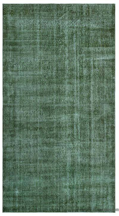 "Over-dyed Turkish Vintage Rug - 5'5"" x 10'2"" (65 in. x 122 in.)"