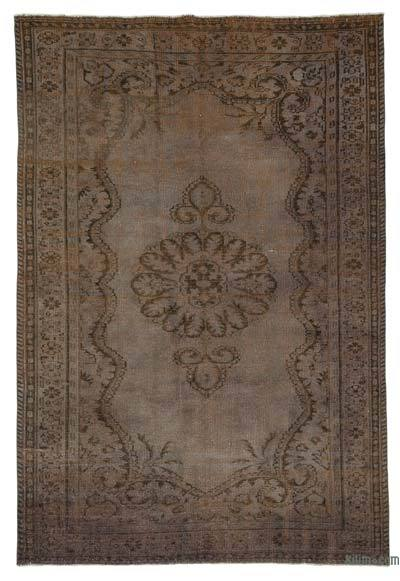 Grey Over-dyed Turkish Vintage Rug - 6' x 8'9'' (72 in. x 105 in.)