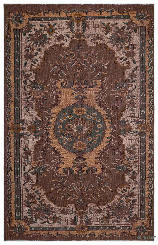 Brown Turkish Vintage Area Rug 6 3