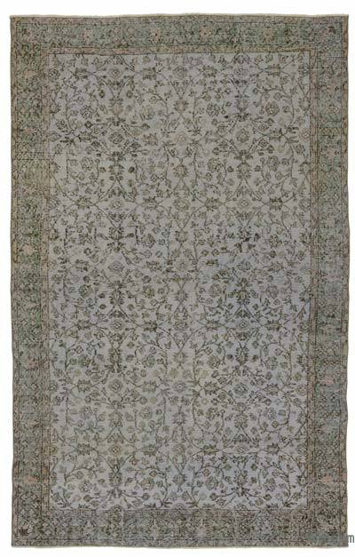 "Over-dyed Turkish Vintage Rug - 5'9"" x 9'2"" (69 in. x 110 in.)"
